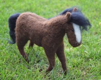 Needle Felt Horse, Miniature, Pony, OOAK, animal, critter, miniature dolls, soft sculpture