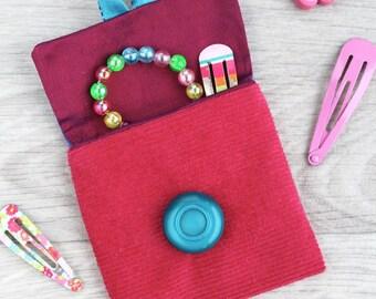 cute coin purse, fabric pouch, fabric purse, small pouch, girls purse