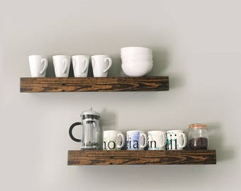 Floating Shelves Rustic Reclaimed Wood Custom Made to Order Sizing