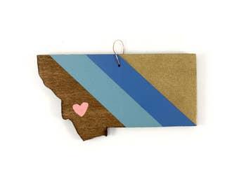 Montana Heart Ornament