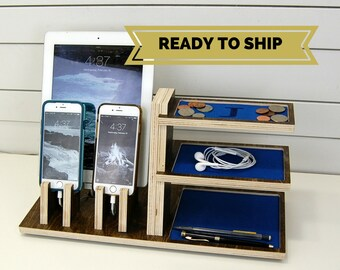 Double Phone & Tablet Charging Station and Organizer