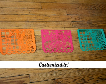 Custom Papel Picado Banner - Whole Banner - Festive Amor Pattern