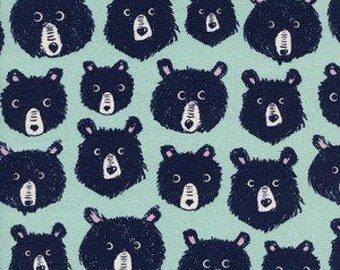 Cozy -- Teddy and the Bears in Mint by Cotton and Steel House Designer
