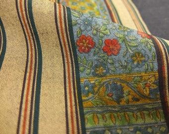 """14.3""""w. x 32.2""""l. Vintage kimono wool fabric floral 2978H"""