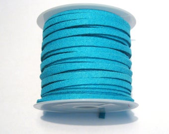 5 Meter/Roll Blue Faux Suede Cord  3x1.5mm( No.58)