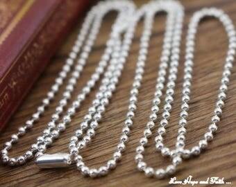 Based necklace shot silver 2.4mm (lenght 65cm
