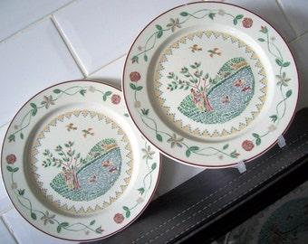 Pair of Villeroy and Boch American Sampler Salad Plates