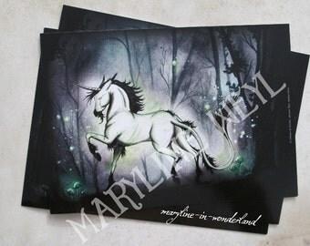 card mailing Unicorn light