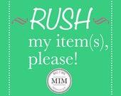 Rush 1 item add-on