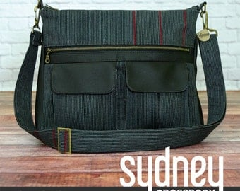 Sydney Crossbody Bag Pattern by Swoon Sewing Patterns; SWN019; DIY Purse / Bag; Sewing Pattern; Swoon Bags; OPTIONAL: Add a Swoon metal tag