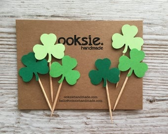 St Patrick's Day Shamrock Cake Toppers