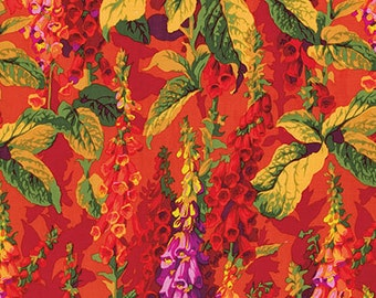 1/2 Yard Fox Gloves in Hot Philip Jacobs  fabric  PJ010