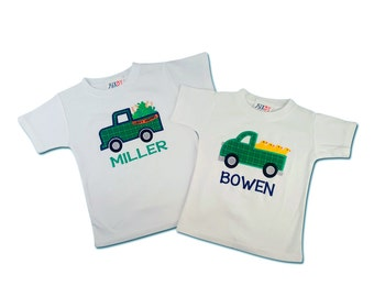 Boy St Patrick's Day and Easter Truck Shirts with Names