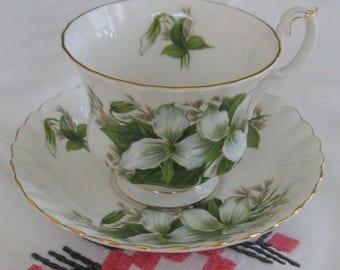 ROYAL ALBERT TRILLIUM English bone china cup and saucer
