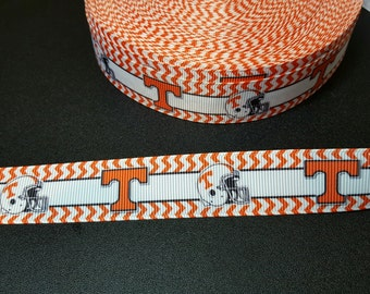 UT University of Tennessee printed grosgrain ribbon for hair bows, scrapbooking, other crafts - sold in lengths of 1, 3, or 5 yards - M2204
