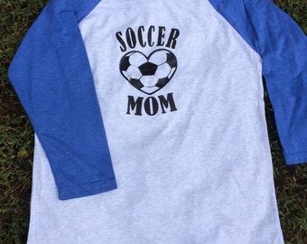 Soccer Mom Shirt~Soccer Mom~Soccer Shirt~Vinyl Shirt~Soccer Mom Raglan~Raglan Shirt