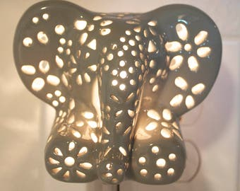 Ceramic elephant night light