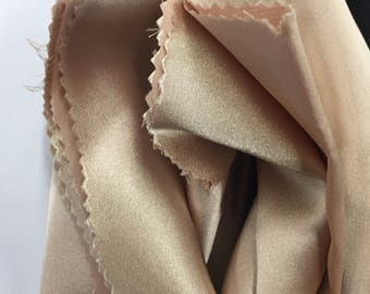 Khaki 58 inch 2 way stretch charmeuse satin-super soft silky satin-wedding-bridal-prom-nightgown-sold by the yard.