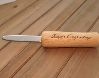 Personalized Oyster Knife, Oyster Shucker, Custom Engraving