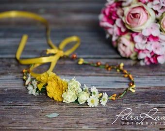 Flower wreath wedding hair accessories flower girl hair flower wedding flower wreath headband wedding boho A5