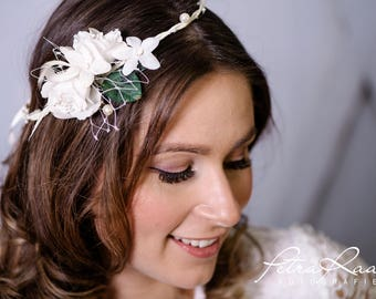 Flower wreath wedding hair accessories flower girl hair flower wedding flower wreath headband wedding boho A11