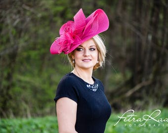 Hat Royal Ascot has ball Hat Kentucky-Derby horse racing has couture millinery Sinamay wedding Fascinator U10