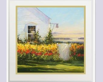 Ocean Seascape painting, Landscape painting print, Wall decor, Seascape Prints, Maine art, Oil painting, Artwork, Giclee, Art print