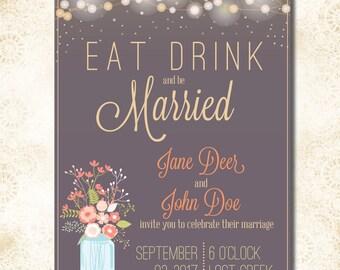 5x7 Customized Wedding Invitation
