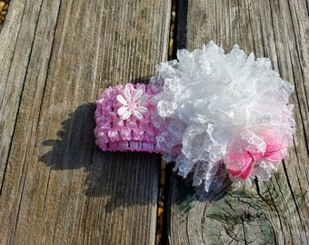 Hair Accessory, Girls Accessory, Flower Headband, Spring Flower, Flower Girl, Baby Headband, Lace Flower, Easter Flower, Crochet Lace