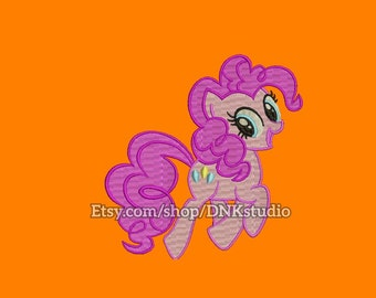 My Little Pony Pinkie Pie Machine Embroidery Design - 6 Sizes - INSTANT DOWNLOAD