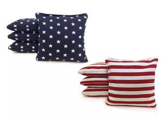 Stars and Stripes Cornhole Bags