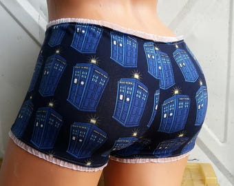 Doctor Who TARDIS inspired Panties Lingerie your size and style choice