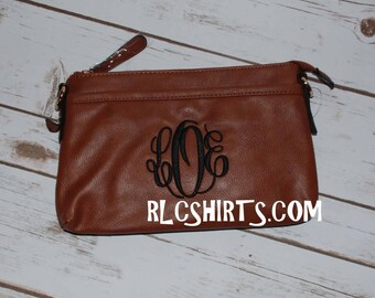 Camel Monogrammed Cross Body Purse. Camel. Brown. Monogrammed Purse. Personalized Purse. Monogram purse. Cross Body Purse.
