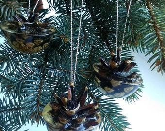 SALE 20% OFF Christmas ornament Christmas decor Pine cone Real cone decor Christmas decoration Cone ornament Xmas decor Cristmas ornament Ho