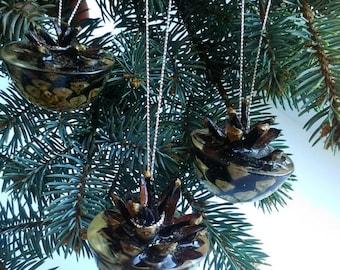 SALE 20% OFF Christmas ornament Christmas decor Pine cone Real cone decor Christmas decoration Cone ornament Xmas decor Cristmas ornament Ho