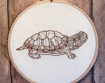 Turtle Power embroidery