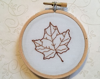 Maple Leaf embroidery #2