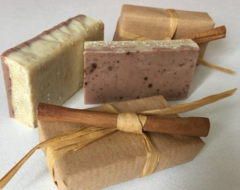 Cocoa, cinnamon and oats soap