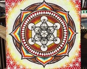 Metatrons Cube Mandala