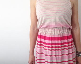 Handmade striped Jersey dress