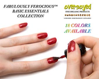 Nail Lacquer & Polish - Basic Essentials - 18 Colors - Fun Safe Handmade Nail Art - Women Girls Gifts - Fabulously Ferocious