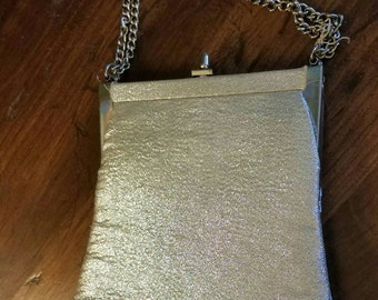 Adorable vintage silver formal purse
