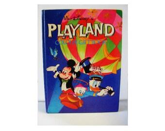 Vintage children's annual Walt Disney's Playland Colour Gift Book 1972 Hardback colour color illustrations