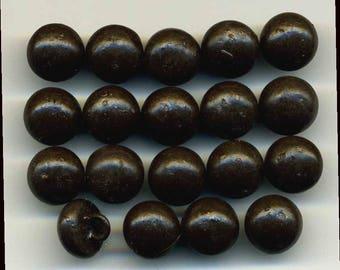 Antique Shoe Buttons, Set of 19