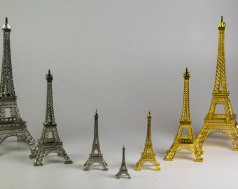 "10"" Metal Eiffel Tower Decore Silver/Gold"