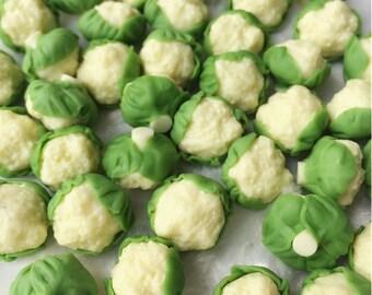 5/10 Miniature Cauliflower,Miniature Vegetable,Dollhouse Vegetable,Dolls House,Dollhouse Cauliflower,Miniature handmade,mini Cauliflower
