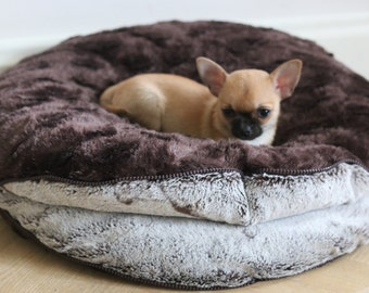 "Double Round Chihuahua Dog / Pet Bed / Nest / Cave - diameter 51 cm (20.1"")"