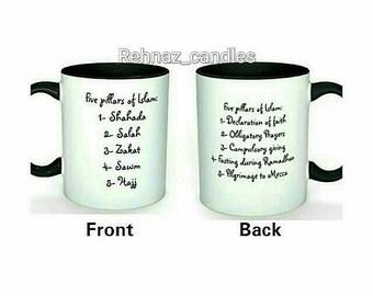 Islamic mugs, Muslim gifts, Eid gifts, Umrah gifts, Islamic decor,hajj gifts, Personalised gifts,islamic decor,Mugs- 5 pillars of Islam
