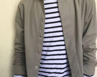 Vintage 1980s Khaki Bomber Jacket