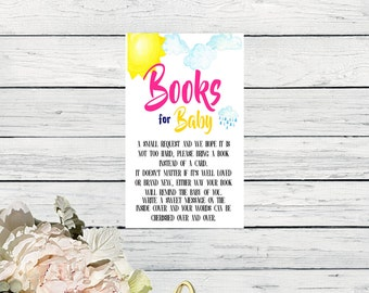 Books for Baby-Card Insert - You Are My Sunshine Matching Design-Size 3x5 - Digital File *****INSTANT DOWNLOAD**** (Book-SunPnk)